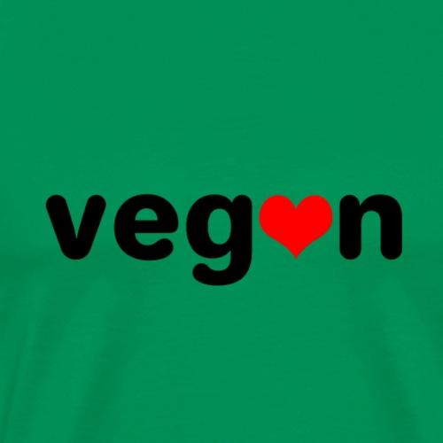 Vegan mit Herz - Männer Premium T-Shirt