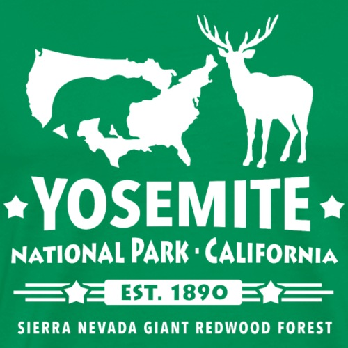 Yosemite National Park Schwarzbär Hirsch Redwood - Men's Premium T-Shirt