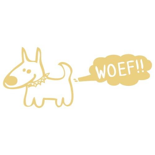 woef - www.dog-power.nl - Mannen Premium T-shirt
