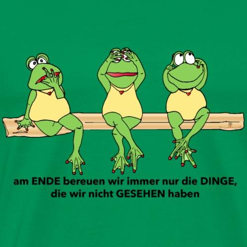 Weise Frösche - Männer Premium T-Shirt