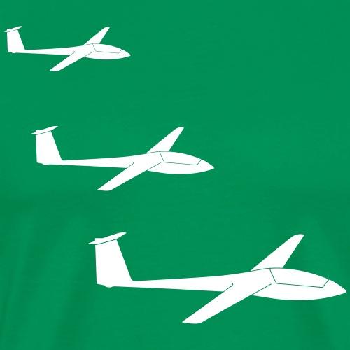 Segelflugzeuge Team Formation Segelflieger gleiten - Männer Premium T-Shirt