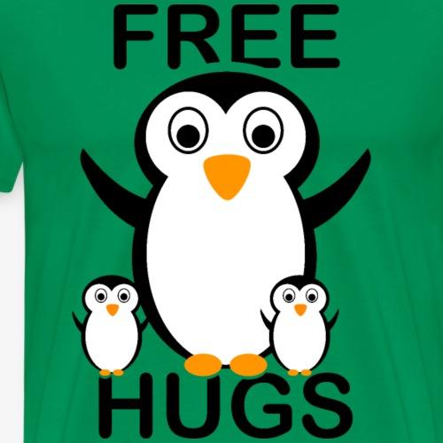 Free Hugs Pinguine / Pinguin-Familie - Männer Premium T-Shirt