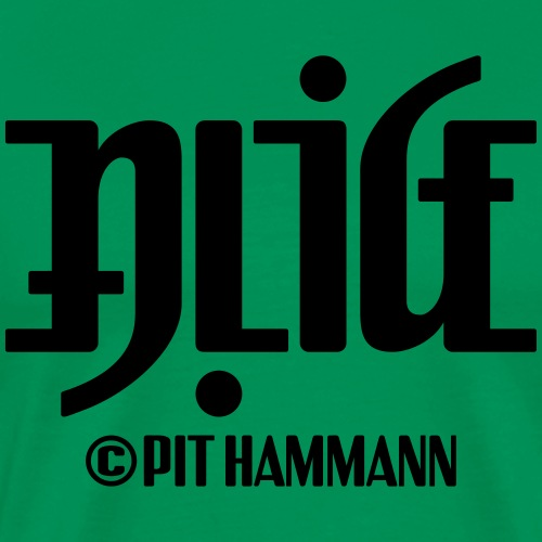 Ambigramm Alice 01 Pit Hammann - Männer Premium T-Shirt