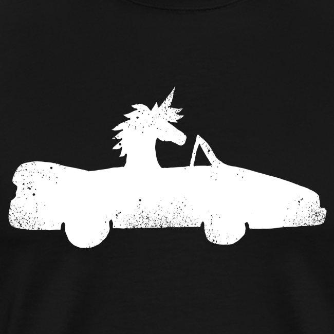 Cadeau de permis de conduire drôle de voiture de la Licorne convertible