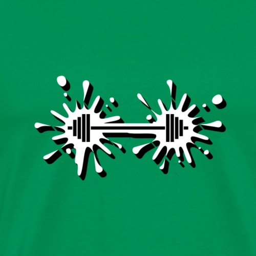 Hantel Splash - Männer Premium T-Shirt