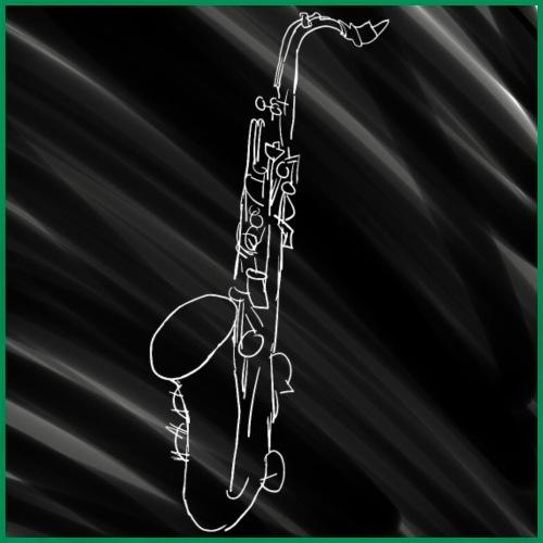 Tenor Saxofon Black&White - Männer Premium T-Shirt