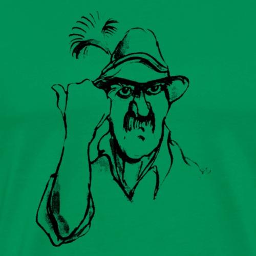 Revier Grantler schwarz - Männer Premium T-Shirt