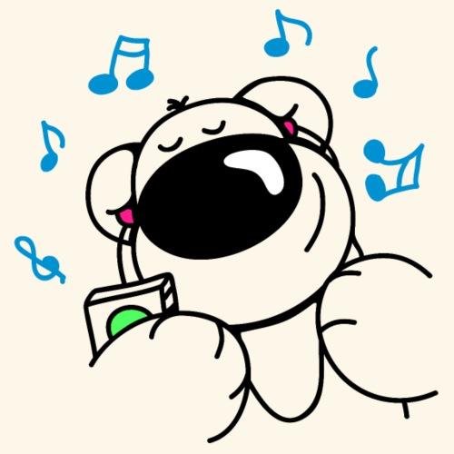 Der Bär hört Musik - Männer Premium T-Shirt