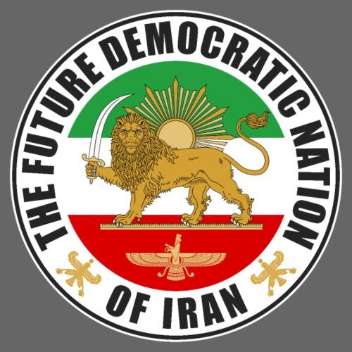 Iran Emblem Old Flag With Lion