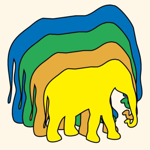 Gli elefanti colorati - Maglietta Premium da uomo