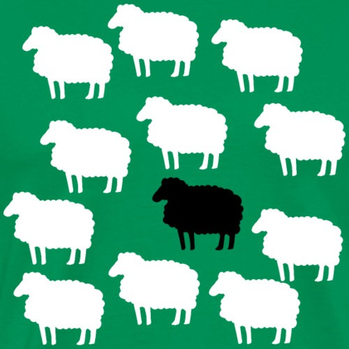 Lustige Schafherde Schwarzes Schaf Geschenkidee - Männer Premium T-Shirt