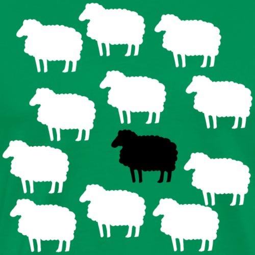 Lustige Schafherde Schwarzes Schaf Geschenkidee - T-shirt Premium Homme