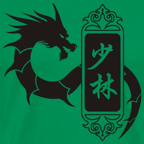 shaolin dragon one color - T-shirt Premium Homme
