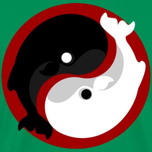 Yin Yang Whale - T-shirt Premium Homme