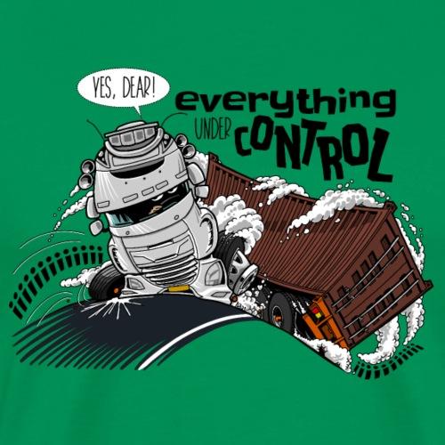 D TRUCK CONTROL White - Mannen Premium T-shirt