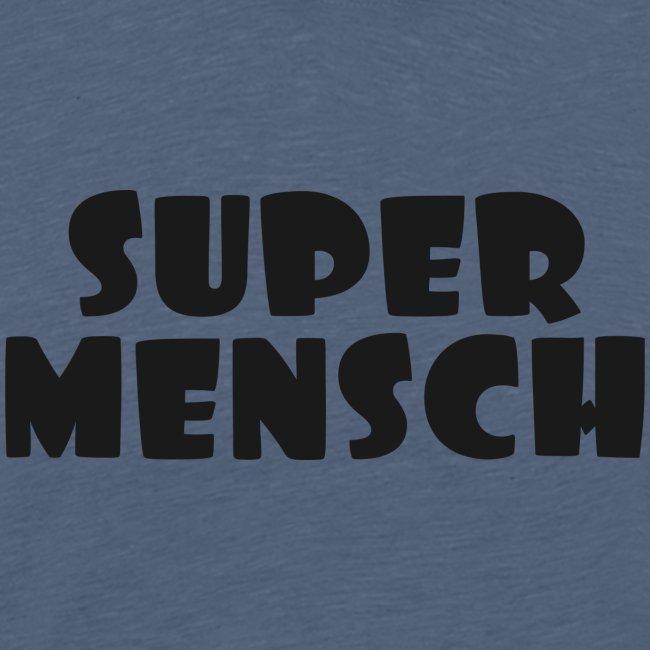 Supermensch in schwarz