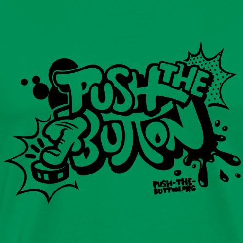 push the button comic style - Men's Premium T-Shirt