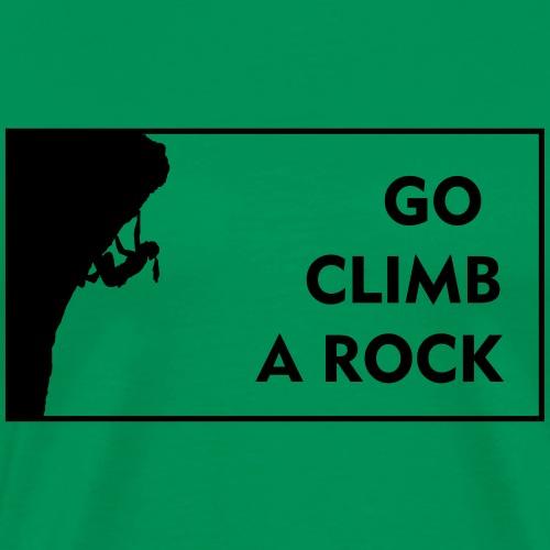 go climb a rock - woman - Men's Premium T-Shirt