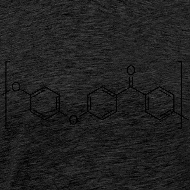 Polyetheretherketone (PEEK) molecule.