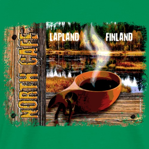 Coffee Lapland Finland Textiles and Gifts ideas - Miesten premium t-paita