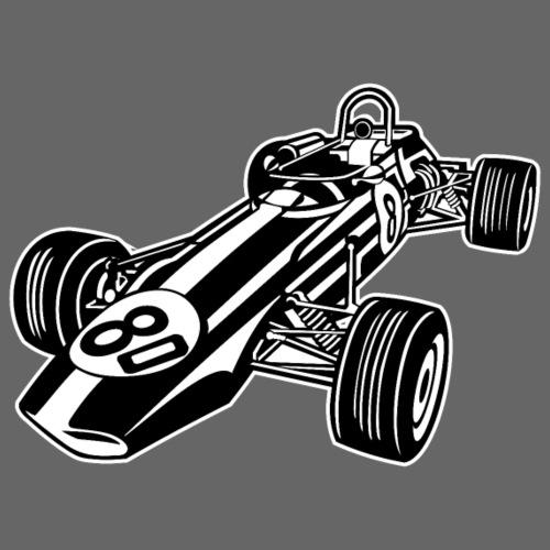 Rennwagen / Race Car 02_schwarz weiß - Männer Premium T-Shirt