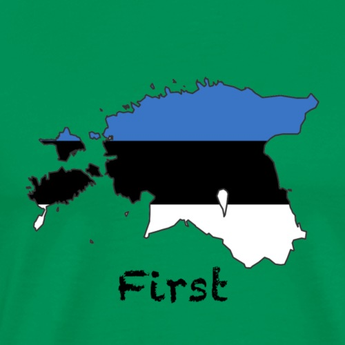 Estonia First - Männer Premium T-Shirt