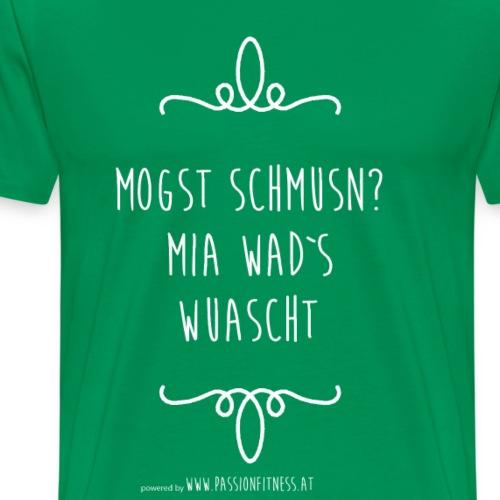 MOGST_SCHMUSN_MIA_WAD-S_WUASCHT - Männer Premium T-Shirt