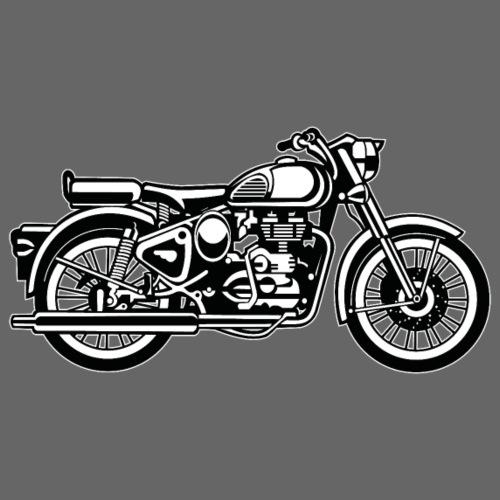 Motorrad / Motorcycle 02_schwarz weiß - Männer Premium T-Shirt