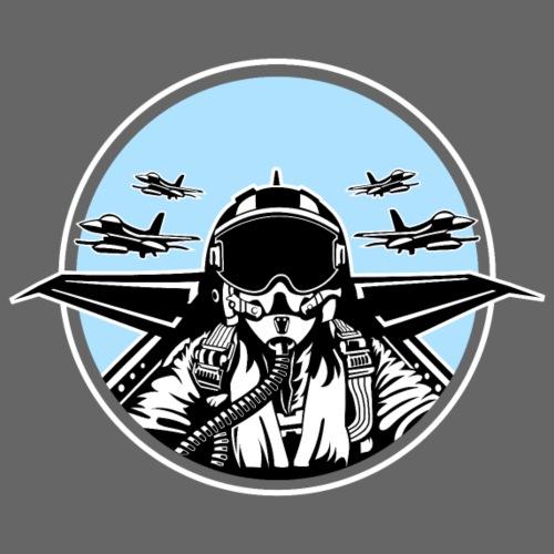 Jet Pilot / Kampfpilot 01_schwarz weiß - Männer Premium T-Shirt