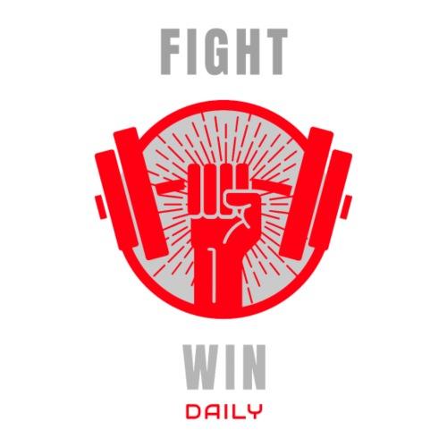 Fight win daily - Männer Premium T-Shirt