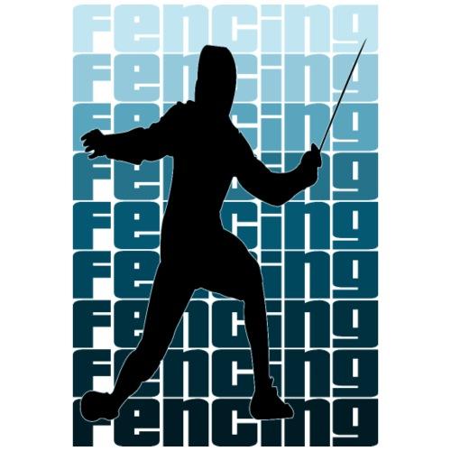 Fencing fechten - Männer Premium T-Shirt