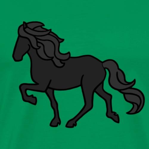Islandpferd, Rappe - Männer Premium T-Shirt