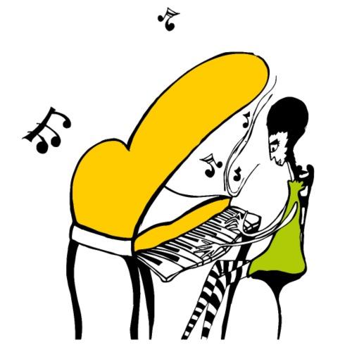 Piano Girl - Camiseta premium hombre