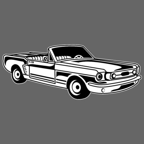 Cabrio / Muscle Car 02_schwarz weiß - Männer Premium T-Shirt
