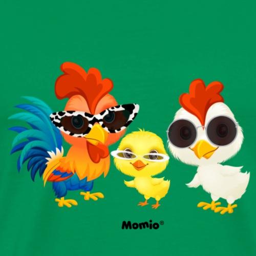 Kip - door Momio Designer Emeraldo. - Mannen Premium T-shirt