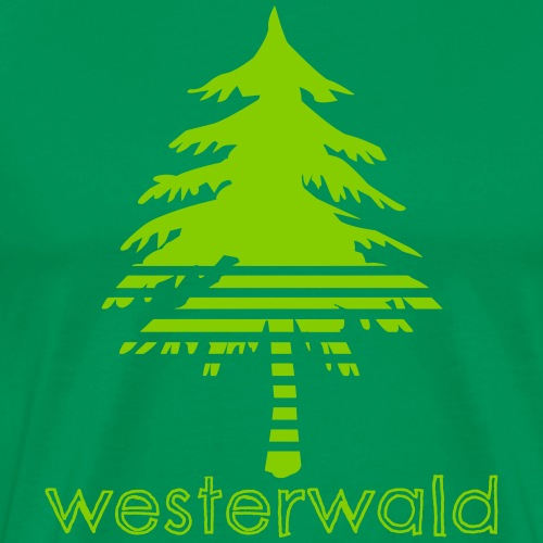 Bunt, Hip, Bodenständig- Westerwald kann! - Männer Premium T-Shirt