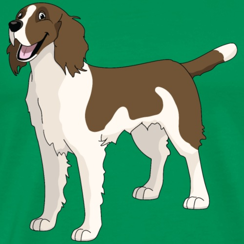 Springing Springer Spaniel - Men's Premium T-Shirt