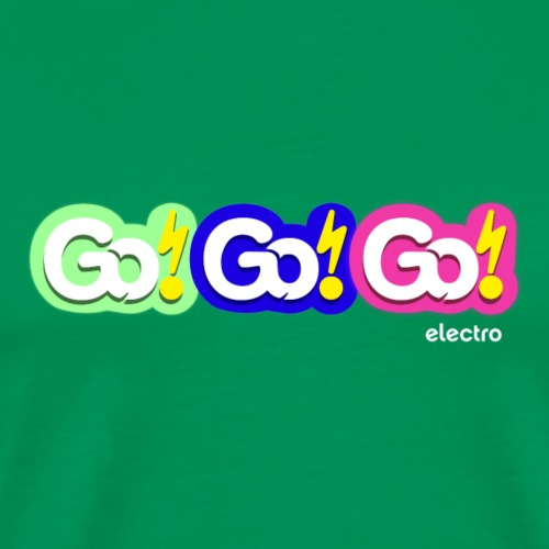 Go!Go!Go! Electro Logo Vibrant - Men's Premium T-Shirt