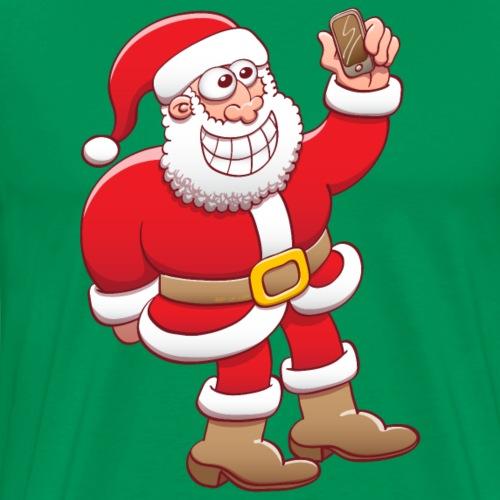 Santa Claus nervously grinning and taking - Men's Premium T-Shirt