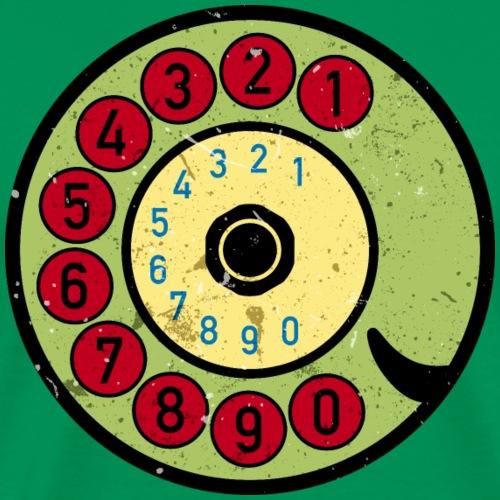 Vintage Telefon Retro nostalgische Wählscheibe alt - Men's Premium T-Shirt