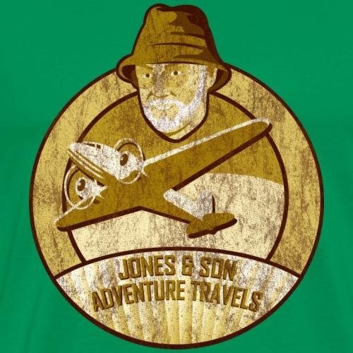 Jones Adventure Travels, Sepia - Männer Premium T-Shirt