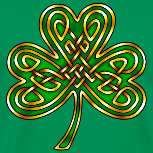 Celtic Knotwork Shamrock - Men's Premium T-Shirt