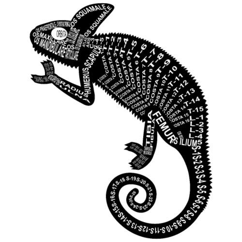 Chameleon Skeleton - Mannen Premium T-shirt