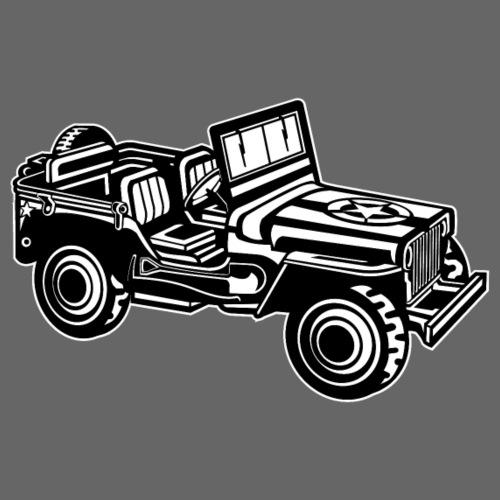 Geländewagen / Jeep SUV 01_schwarz weiß - Männer Premium T-Shirt