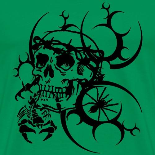 Tattoo Totenkopf - Männer Premium T-Shirt