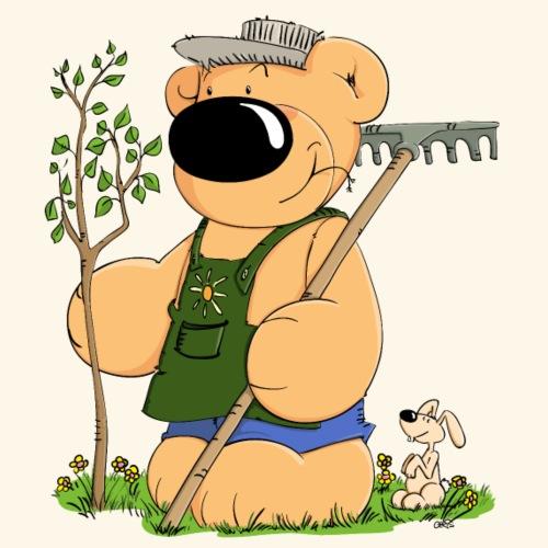 chris bears Gärtner Bär - Männer Premium T-Shirt