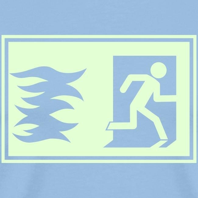 Notausgang / Feueralarm Symbol