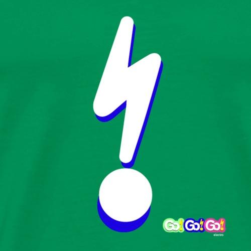 Go!Go!Go Lightening Bolt Blue - Men's Premium T-Shirt