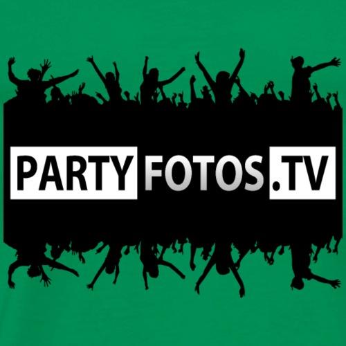 T-Shirt Partyfotos.tv Schwarz - Männer Premium T-Shirt