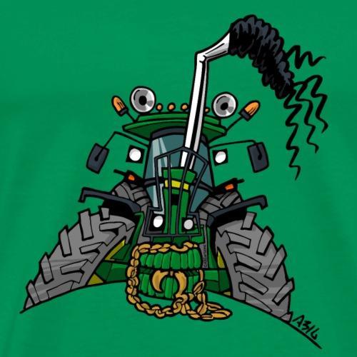 0434 Groene trekker 3350 - Mannen Premium T-shirt